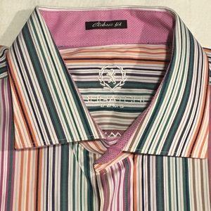 Bugatchi Uomo Mens XL Multi Stripe NWT new $149.99